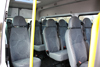 14-Seater Ford Transit  seating interior with 13+1 seats